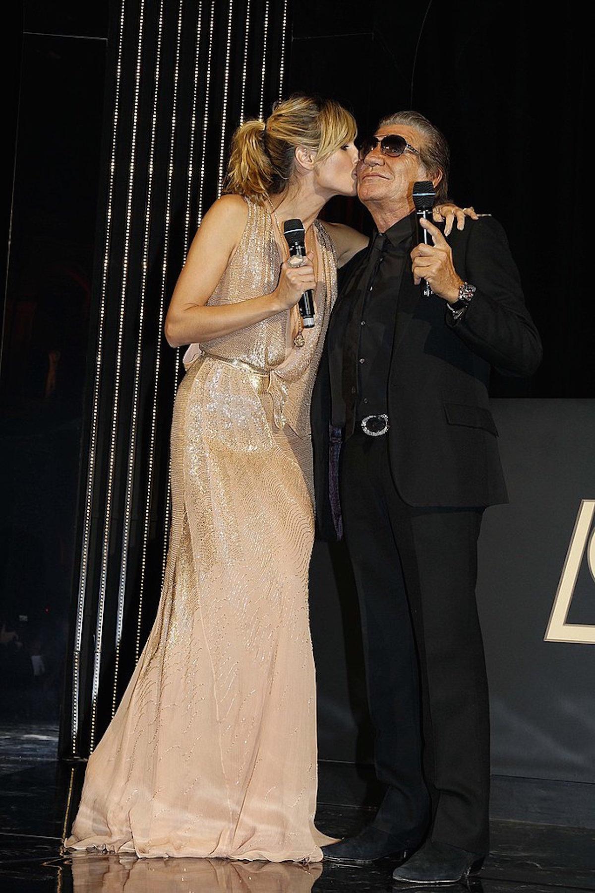 Heidi-Klum and Roberto-Cavalli