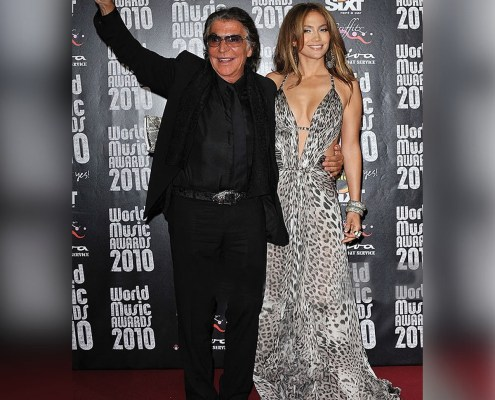 Roberto Cavalli with Jennifer Lopez @jlo