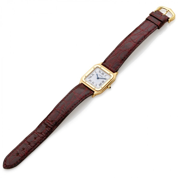 Cartier Santos Dumont Louis Cartier Ultra-Thin, cassa in oro giallo 18 carati