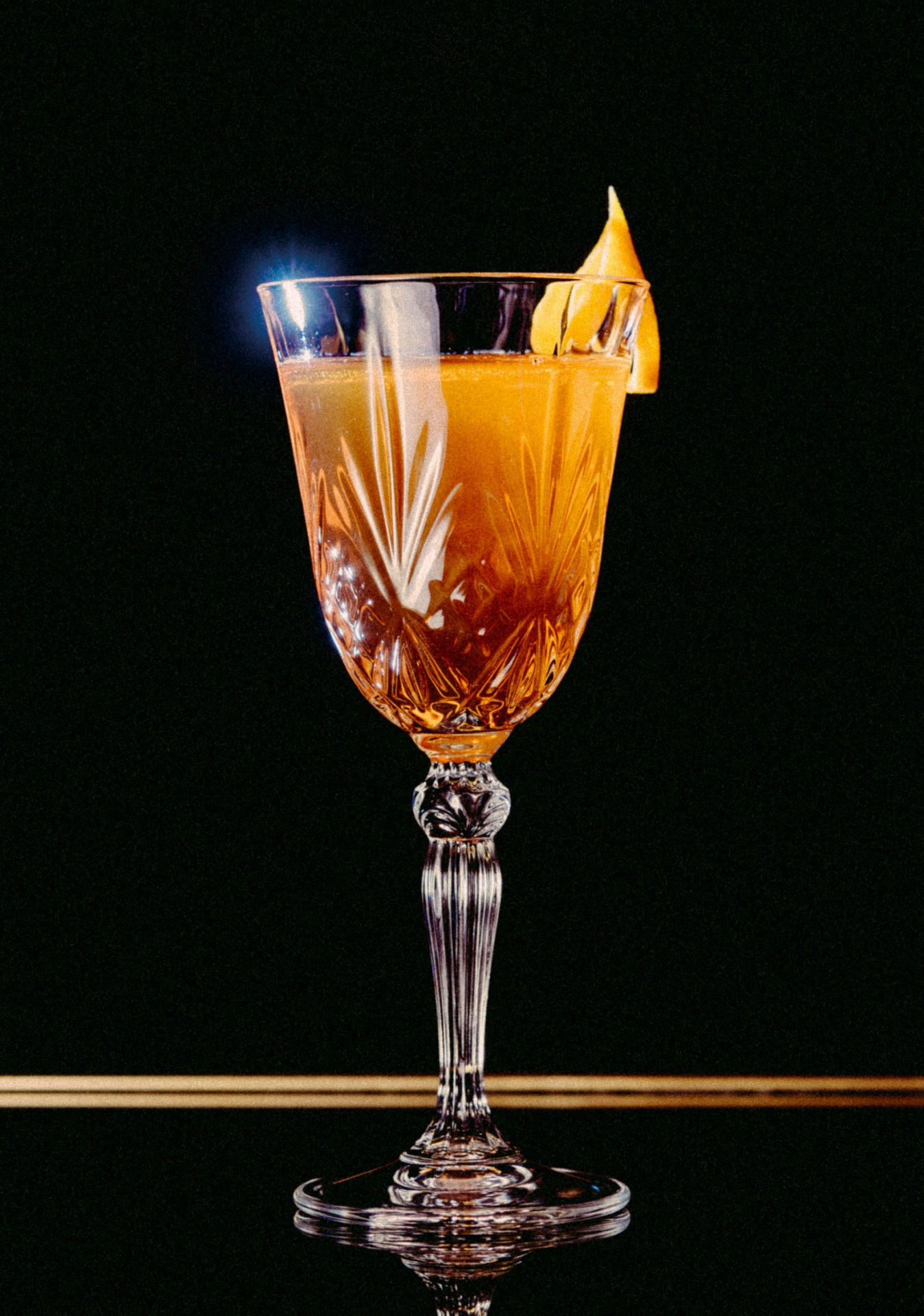 Recipe: 3cl Rittenhouse Rye 3cl Martell V.S.O.P 7 Dashes Peychaud's Bitters 1 Barspoon Cane Sugar 4 Absinthe Sprayers