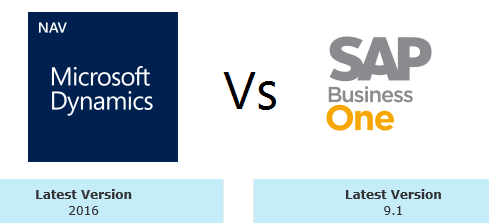 Comparing Dynamics NAV 2016 and SAP Business One 9 1