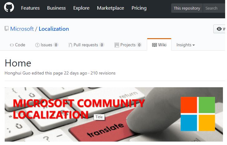 microsoft communit localozation