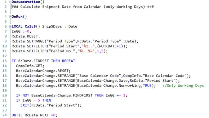 Working Days in Date Calculation – Roberto Stefanetti NAV