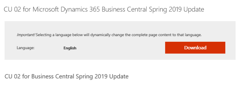 August Cumulative Updates for MSDYN365BC On-premises
