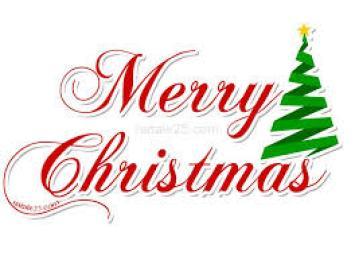 Scritta Merry Christmas da ritagliare | Natale 25