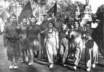 anarquistas en la guerra civil