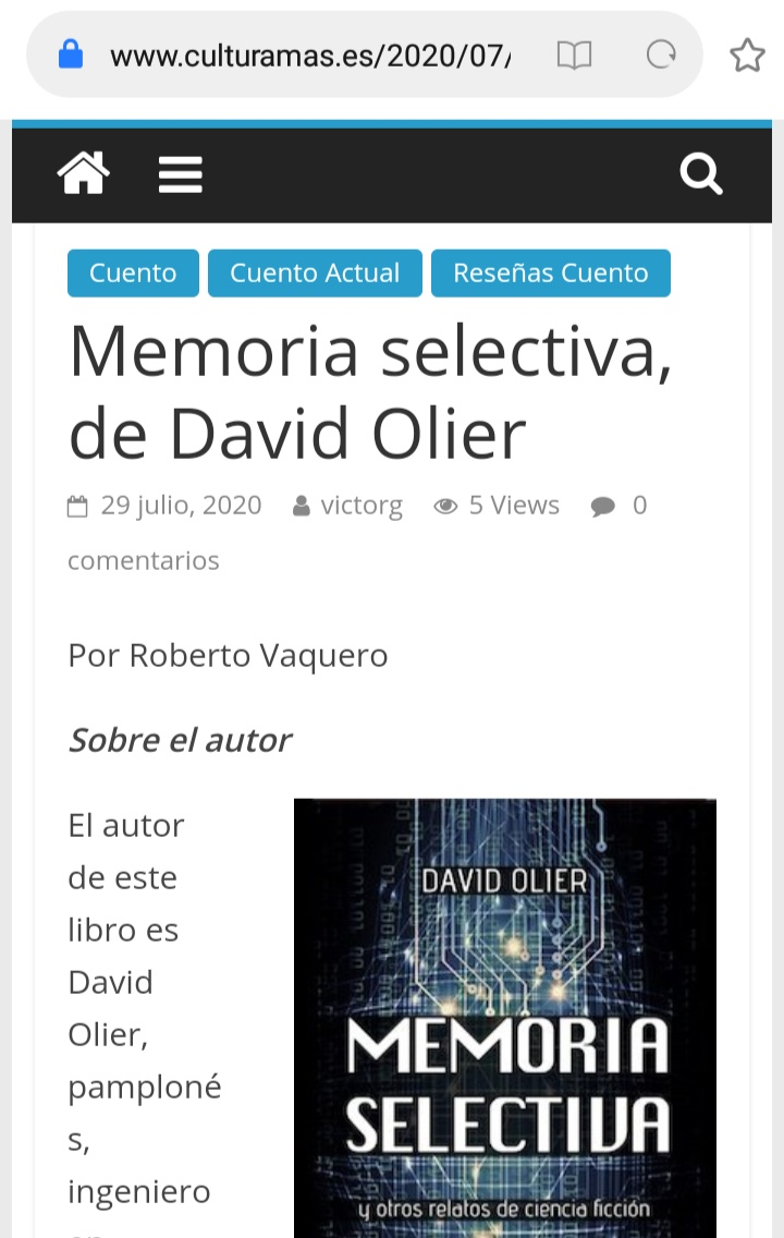 memoria selectiva david olier