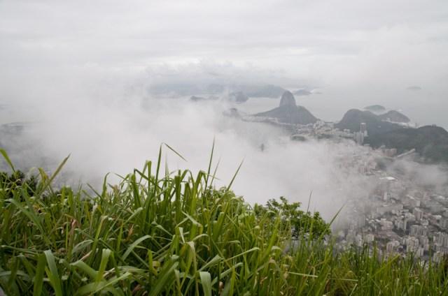 Rio entre la niebla