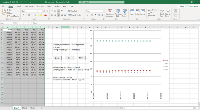 How to record a temperature sensor using Excel by using Excel as Data Acquisition Software