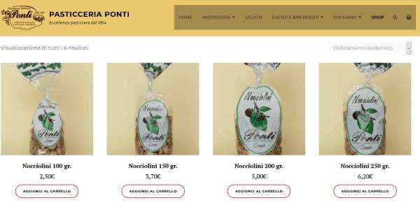 Negozio alimentari online ecommerce