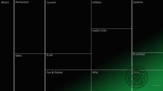 organizzare le icone sul desktop con chtulu wallpaper