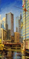 Chicago - The River from the East - oil on linen - 2011