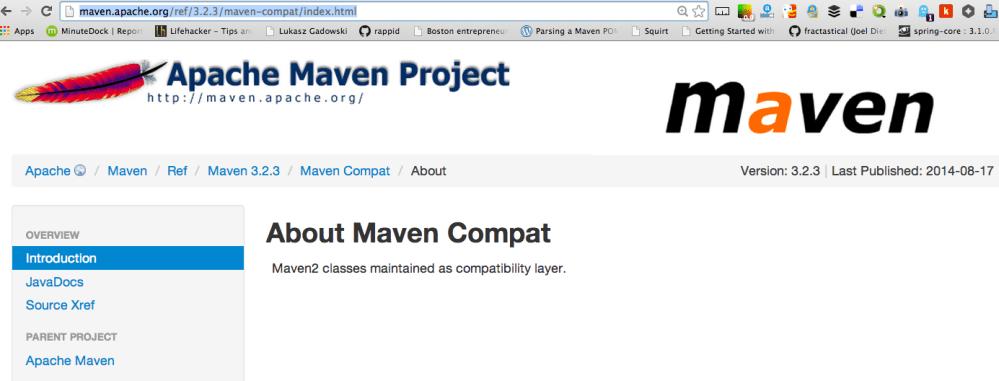 What is maven-compat ??? (1/2)