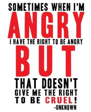 May 18 – Anger
