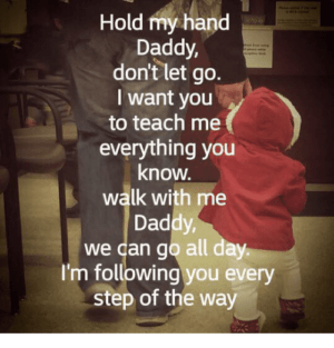August 7 – Don't Let Go Daddy…Daddy, Let Go