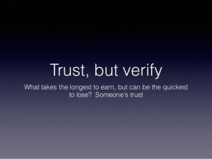 December 20 – Trust But Verify (Part II)