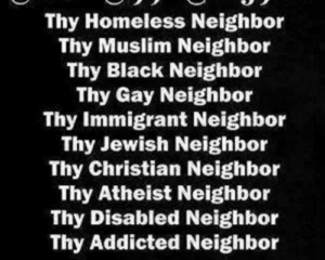 February 27 – Love Thy Neighbor. PERIOD