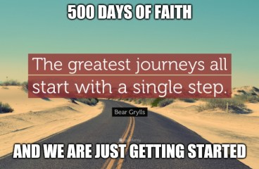 May 16 – 500 Days of Faith