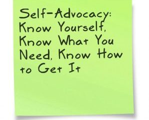 July 31 – Being An Advocate For Yourself