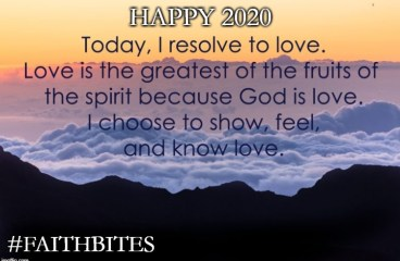Jan 1 – My Resolution: Love
