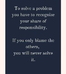 Mar 23 – Let's Not Blame, Let's Solve Problems.
