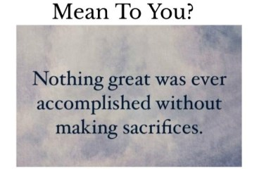 Apr 9 – Sacrifice: It's Not About You