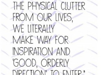 Oct 24 – Clearing The Clutter