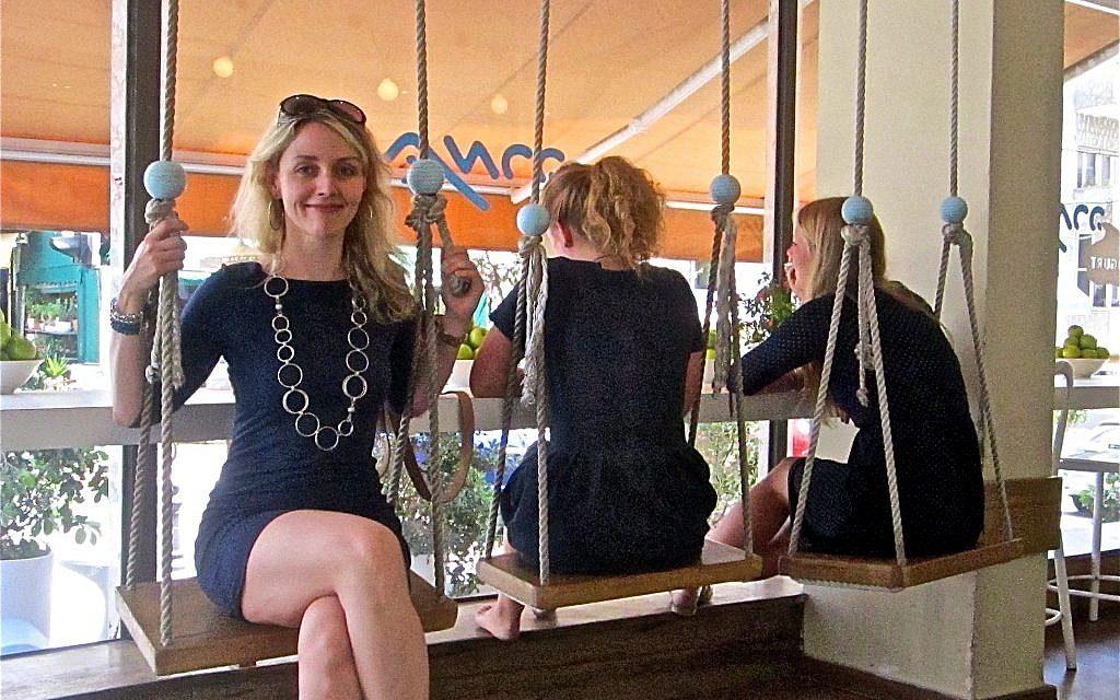 Chantal Ringuet in Tel Aviv. (Courtesy)