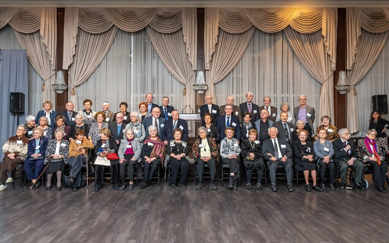 A group shot of the 45 Holocaust survivors who attended the Dinner of Miracles in Toronto, December 15, 2019.