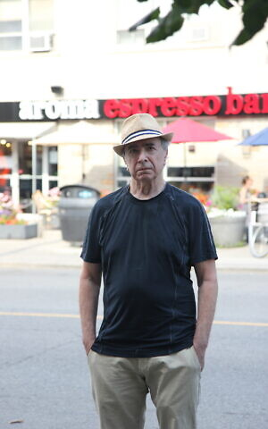 Michael Posner, author of 'Leonard Cohen, Untold Stories,' in midtown Toronto, August 21, 2020. (Etye Sarner)