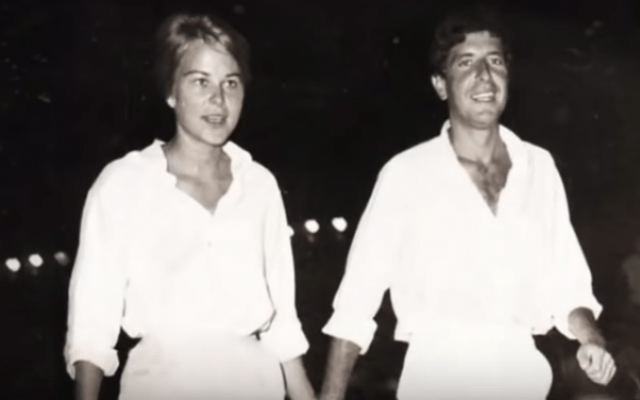 Marianne Ihlen and Leonard Cohen seen in the documentary 'Marianne & Leonard: Words of Love' (YouTube screenshot)
