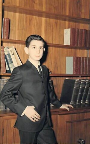 Robert Rotenberg poses for a photo in his home on the occasion of his bar mitzvah, April 1966. (Courtesy)