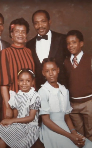 Annamie Paul, bottom right, as a child with her parents and siblings. (Courtesy)