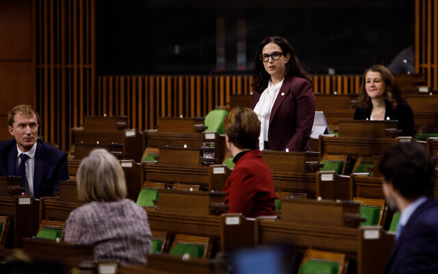 Illustrative: MP Ya'ara Saks asks Canadian Prime Minister Justin Trudeau a question during Question Period in the House of Commons, in West Block of Parliament, in Ottawa, Canada, on November 25, 2020. (Courtesy)