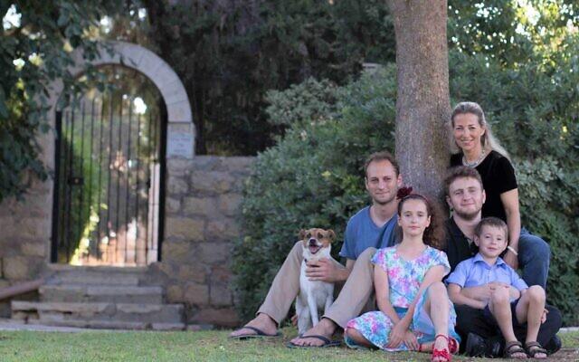 Vardit Ravitsky with her four children in Jerusalem, August 2016. (Courtesy)