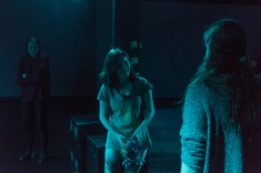 """Child Ellen (Carolyn Noyes) meets Adult Ellen (Megan Warshofsky), right, after suffering from a panic attack due to a traumatic childhood experience. """"I definitely think it's important to bring [the topic of sexual abuse] here because you don't know what people have gone through,"""" Warshofsky said."""
