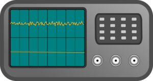 Oscilloscope with noise