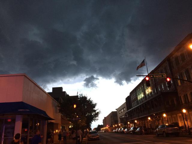 Approaching evening storm