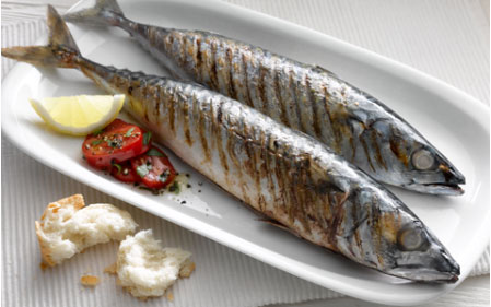 Grilled Mackerel with Tomato Salad