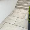 Bedale Render Job, garden walls - closeup