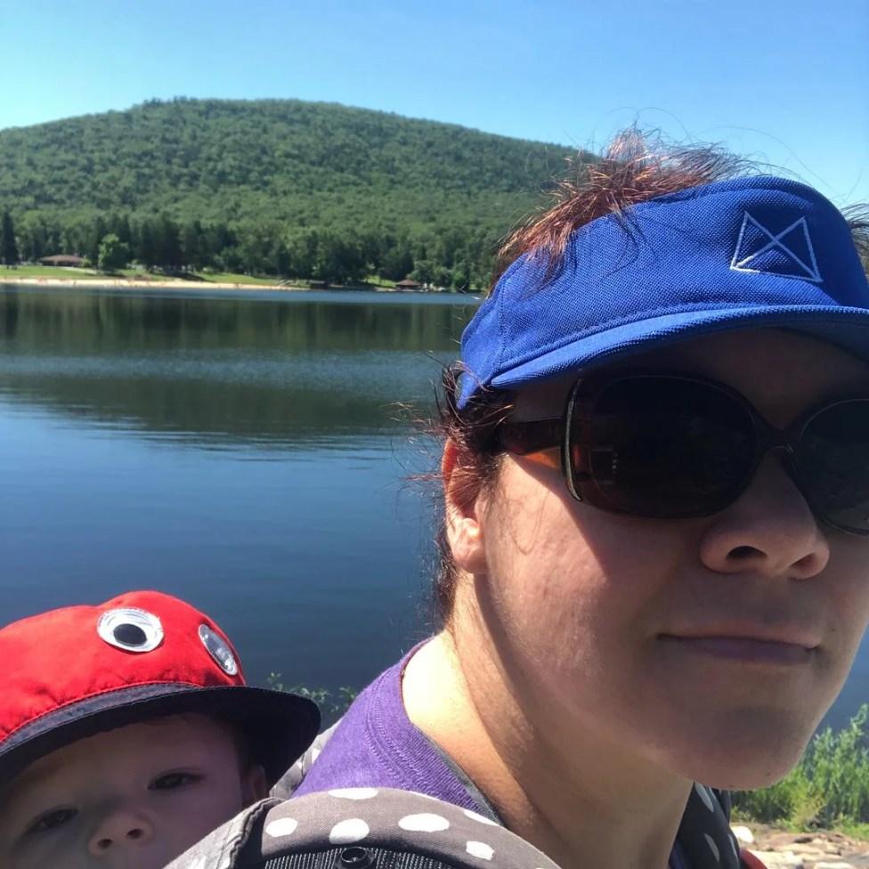hiking with mom