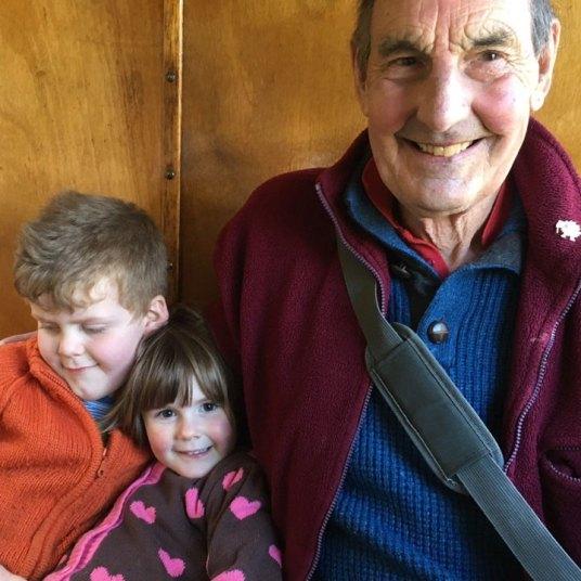george mariella and dafydd on the talyllyn railway