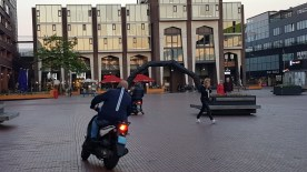 'lLangzaam verkeer' op Stadsplein.