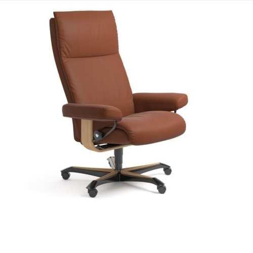 aura office chair in copper