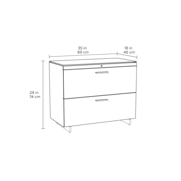Centro 6416 Office File Cabinet White Spec