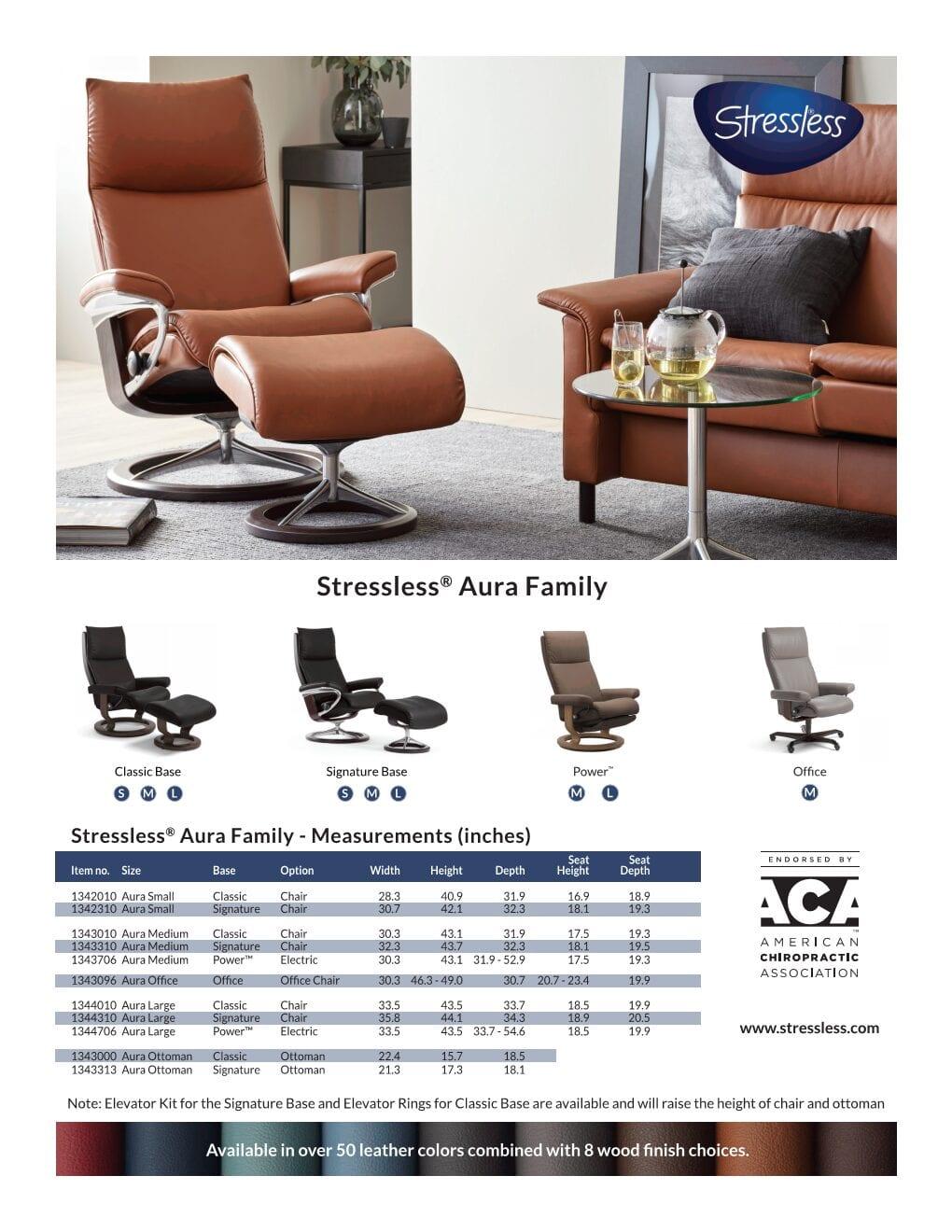 Stressless Aura Product Sheet 2020