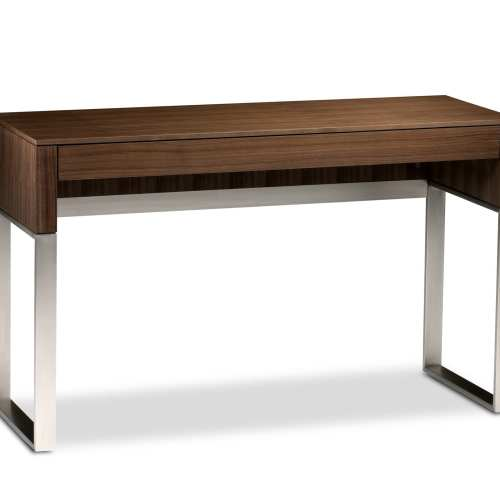Cascadia 6202 Slim Console & Laptop Desk | BDI Furniture Natural Walnut