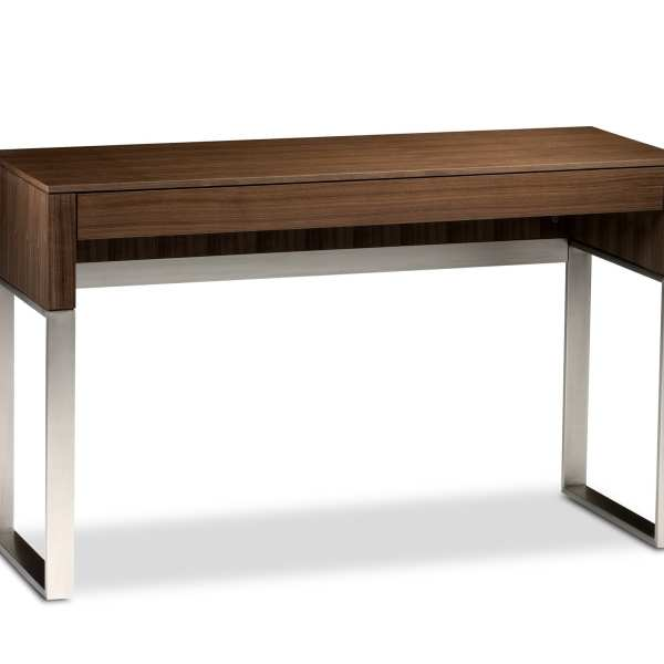 Cascadia 6202 Slim Console & Laptop Desk | BDI Furniture Natural Walnut