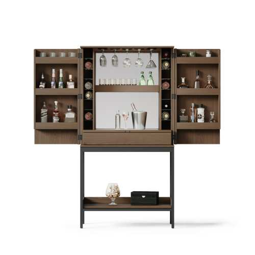 Cosmo 5720 Home Bar & Bar Cabinet | BDI Furniture Toast Walnut