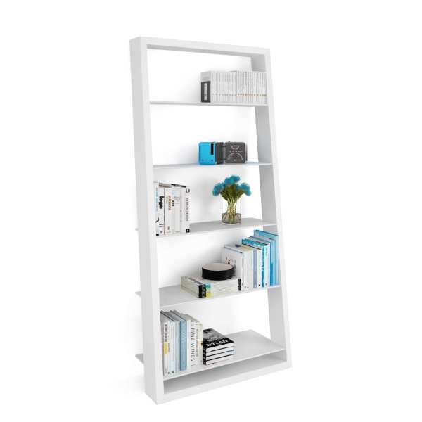 Eileen Blanc 5157 White Leaning Glass Shelf | BDI Furniture 3